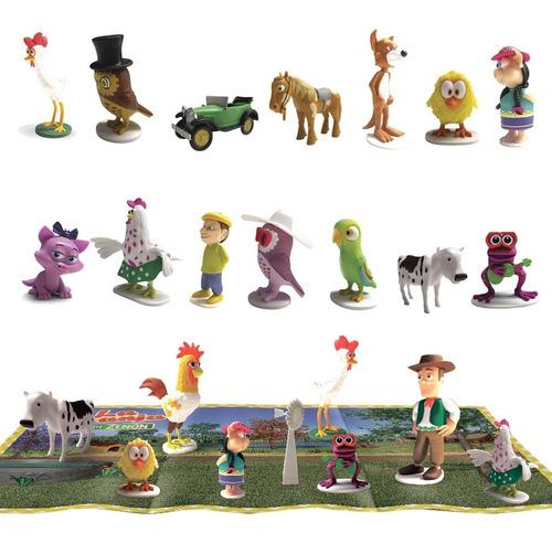 clarín colecciones granja de zenon set 3 de 15 figurines