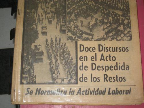 clarin del 5 de julio de 1974 el sepelio de peron
