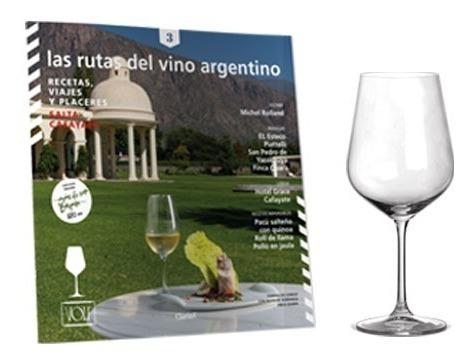 clarín promo rutas del vino + 6 copas volf de vino borgoña