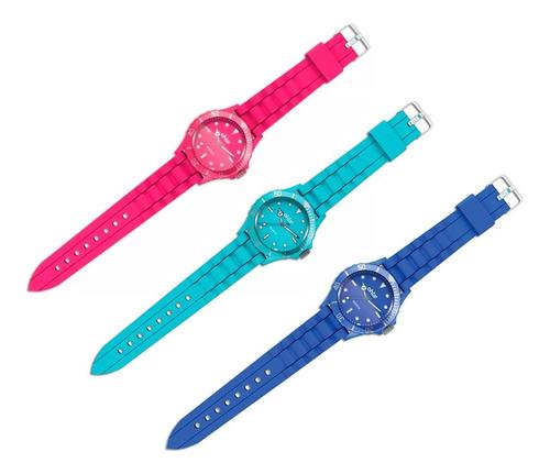 clarín relojes coloridos set 2 de 3 relojes