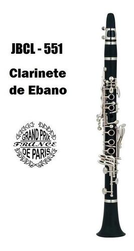 clarinete de madera prix paris jbcl-551 estuche