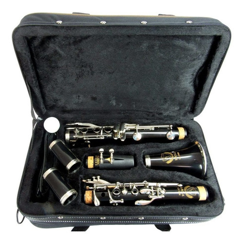 clarinete eagle cl04n profissional sib 17 chaves case bag