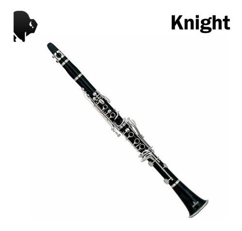 clarinete eb knight jbcl-510  con estuche rigido 17 llaves