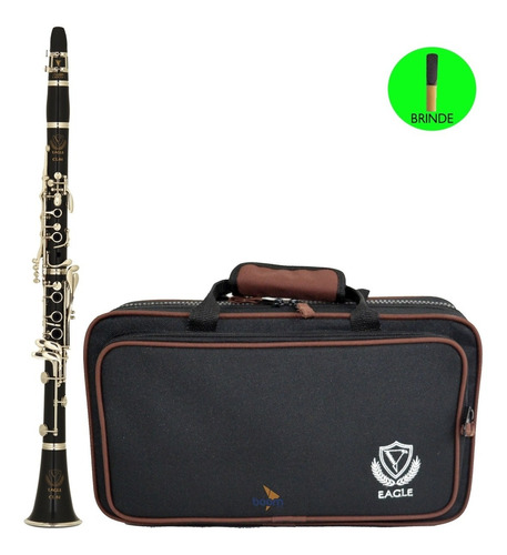 clarinete profissional sib 17 chaves cl04n eagle com estojo