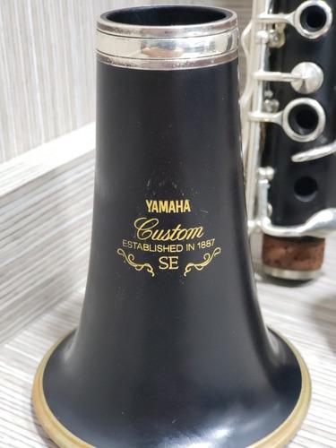 clarinete yamaha custom sib se-v ycl 853 iiiv impecavel