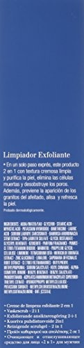 clarins men 2 en 1 limpiador exfoliante 4.4 oz.