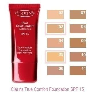 clarins paris true comfort base fluida spf15 oil free larga duracion