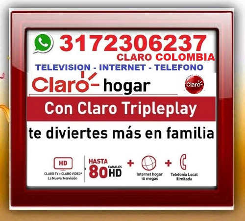 claro hogar, internet, telefono, television digital, tv,