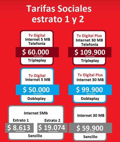 claro triple play $60.000 (estratos 1 y 2 cartagena)
