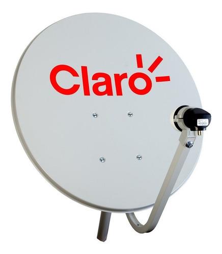 claro tv hd antena 60cm parabólica s/ receptor