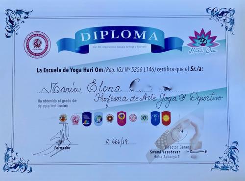 clase on line yoga integral,  arte yoga y yoga deportivo