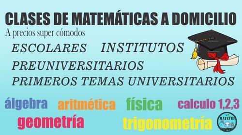 clases a domicilio de matemáticas matevid