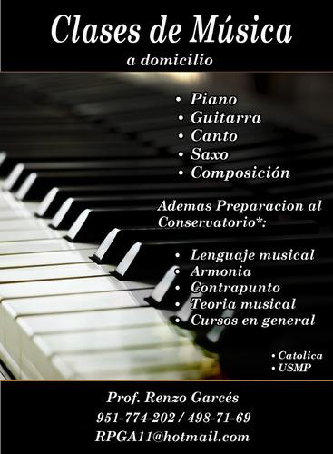 clases a domicilio de piano guitarra teoria musical