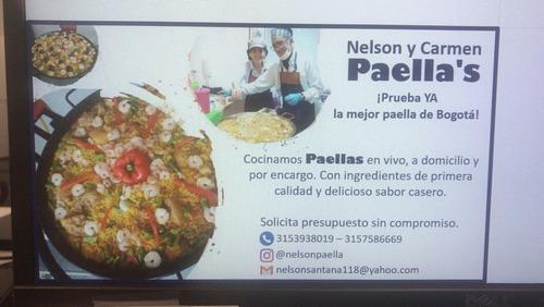 clases a domiclio de elaboracion de paellas  españolas.