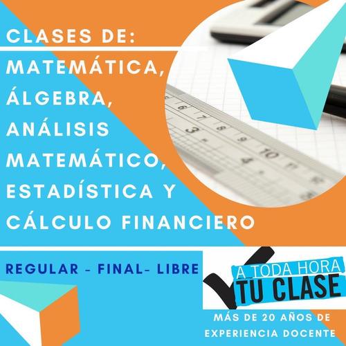 clases analisis matemático 1 y 2 álgebra cbc  skype online