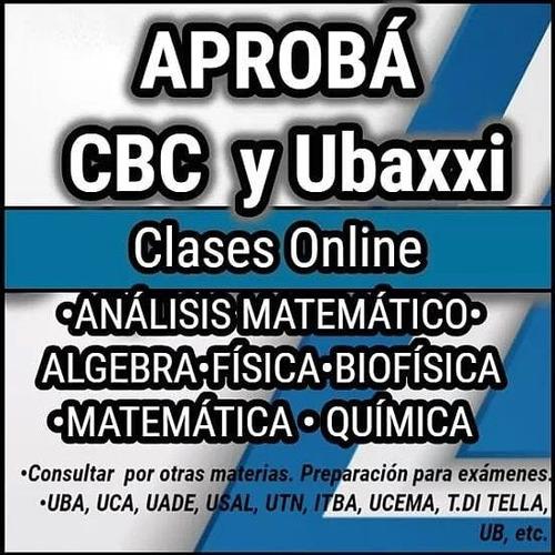 clases cbc y ubaxxi online. universitarios.