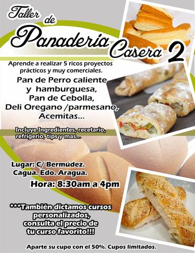 clases/ cursos de reposteria artistica, cocina y panaderia.