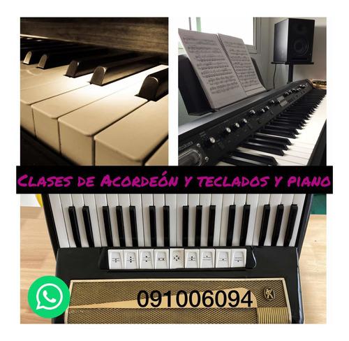 clases de acordeón, piano y teclados presenciales y on line!