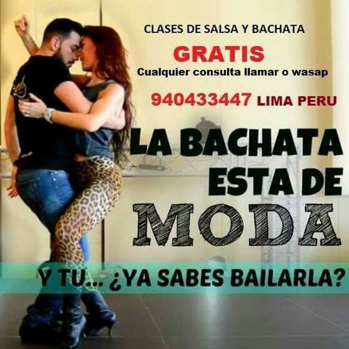 clases de baile salsa y bachata ( gratis )