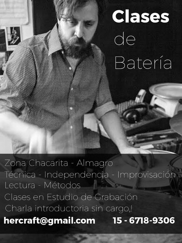 clases de bateria en estudio el duomo - chacarita | almagro