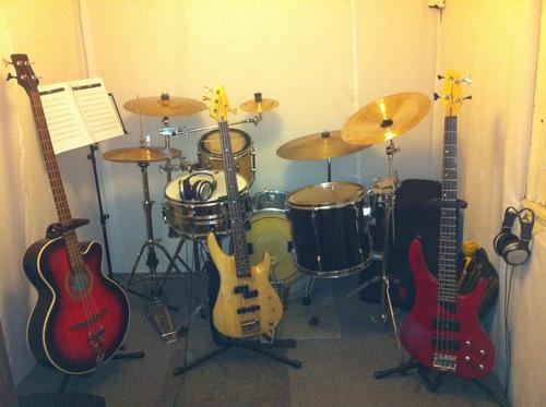 clases de batería y bajo en caballito. música. luthería.