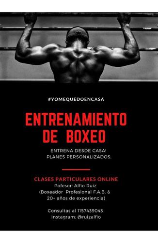clases de boxeo y entrenamiento online!!