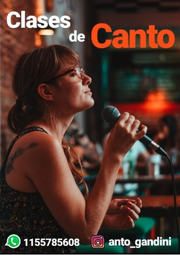 clases de canto on- line x skype, zoom o whatsap