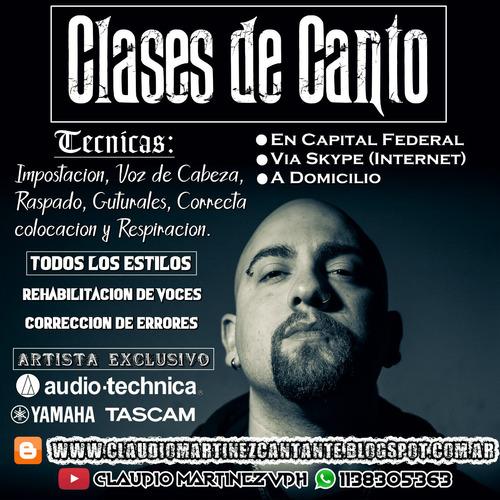 clases de canto - pop/rock/hard/metal/power/thrash/death