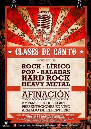 clases de canto rock-pop-lírico (almagro, boedo, caballito)