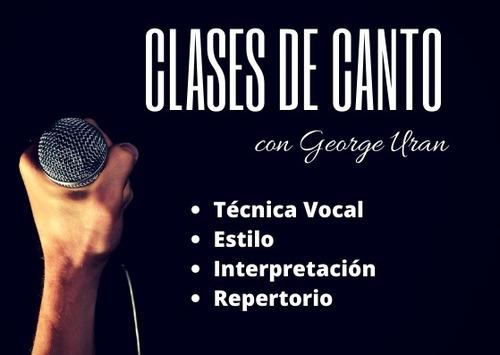 clases de canto - vocal coaching -  online