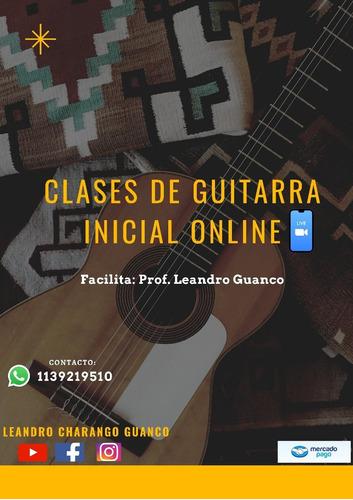 clases de charango/ guitarra / ukelele + aula virtual gratis
