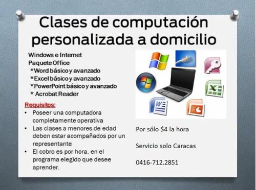 clases de computación a domicilio (niños, jóvenes, adultos)