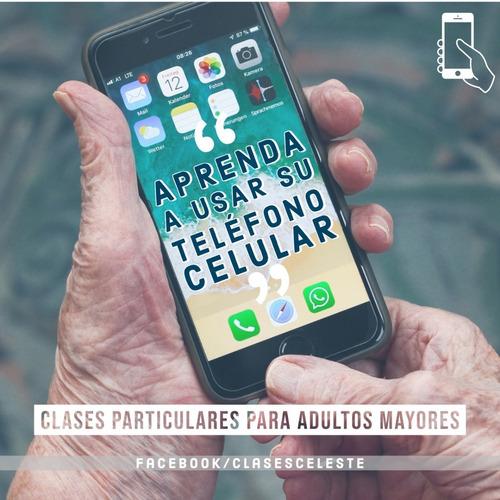 clases de computación y teléfono celular - adultos mayores
