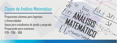 clases de estadística y análisis matemático online