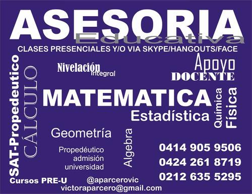 clases de fisica matematicas estadistica quimica