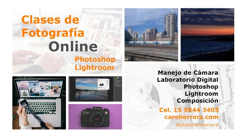 clases de fotografía online, photoshop y lightroom