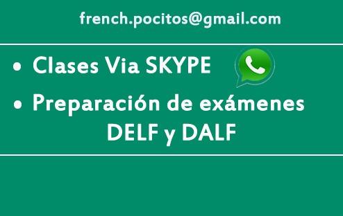 clases de francés online. anotate para mayo !!