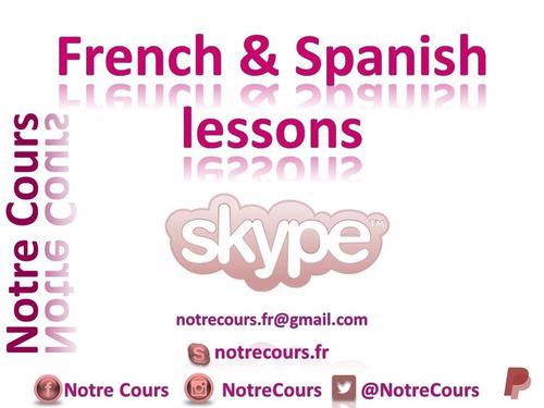 clases de francés y español en línea