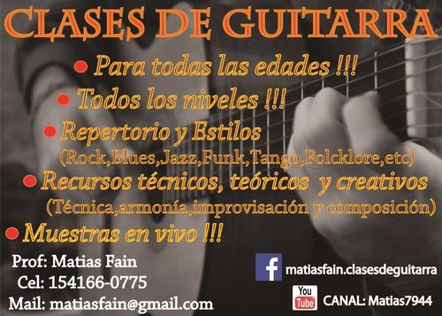 clases de guitarra a domicilio recoleta, san cristobal, etc!