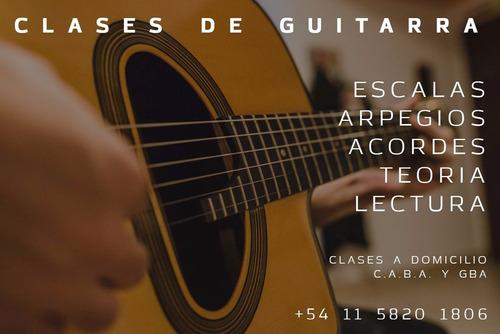 clases de guitarra a domicilio y en mi domicilio