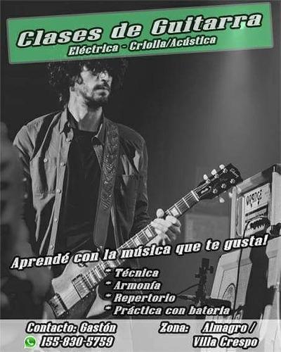 clases de guitarra almagro/villa crespo