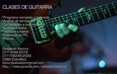 clases de guitarra caballito (villa crespo, almagro, flores)