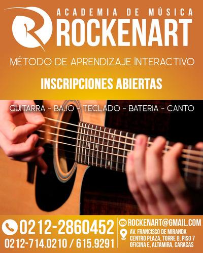 clases de guitarra eléctrica y acústica academia en chacao