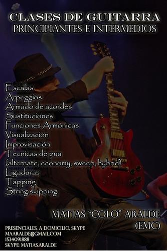 clases de guitarra en avellaneda, flores y por skype.