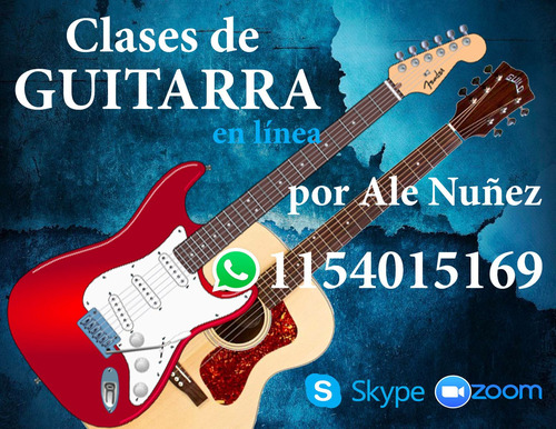clases de guitarra en olivos / online