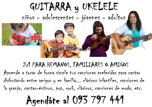 clases de guitarra, piano/teclado, armónica, ukelele, bajo