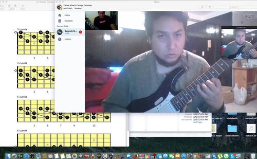 clases de guitarra profesionales por skype y presenciales