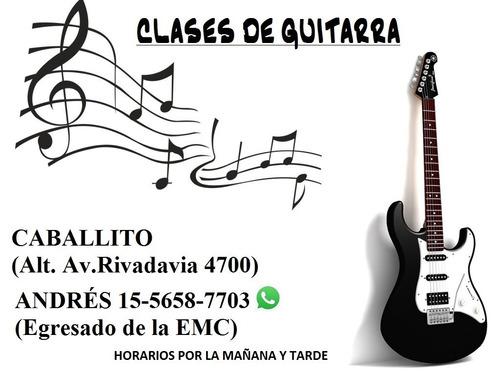 clases de guitarra (profesor en caballito) sábados también