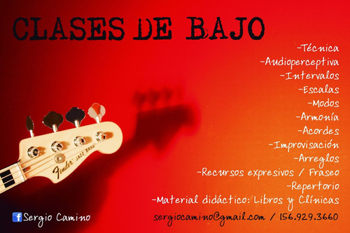 clases de guitarra y bajo - cualquier nivel, edad o estilo.