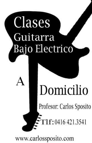 clases de guitarra y bajo electrico a domicilio